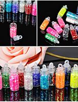 12 Pcs/Set Mini Bottle  Nail Art Powder Dust Tip Rhinestone Manicure Tools Nail Art Tools