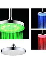 8 pouces chrome coloré tête de douche conduit pluie