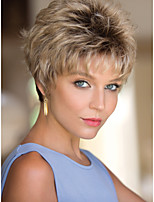 Women Mix Color lady Straight Short Synthetic Hair Wigs Top Quality