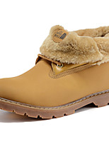 Women's Shoes Suede Flat Heel Snow Boots / Motorcycle Boots Boots Office & Career / Casual Yellow / Taupe