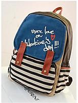 Women Canvas Bucket Shoulder Bag - Blue