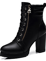 Women's Shoes Synthetic Chunky Heel Snow Boots / Combat Boots Boots Office & Career / Dress / Casual Black / Gray