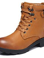 Chaussures Femme - Extérieure / Décontracté - Marron / Taupe - Talon Plat - Bottes de Cowboy / Western / Bottes de Neige - Bottes - Cuir