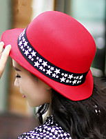 Women Dome Curling Fashion Five-pointed Star Decoration Hat