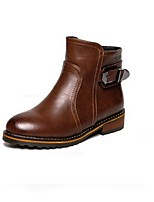 Women's Shoes  Chunky Heel Fashion Boots Boots Casual Black / Brown / Yellow