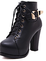 Women's Shoes Chunky Heel Heels Boots Casual Black