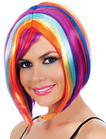 Manufacturers Wholesale Supply Carnival Festival Wig Party Color Eliciting Synthetic Wigs