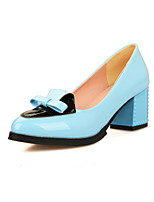Women's Shoes Chunky Heel Comfort / Pointed Toe Heels Outdoor / Office & Career / Dress Black / Blue / Pink / White