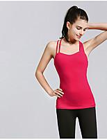 SMOEDOD ® Ioga tops Respirável / Anti-Estático / wicking / Compressão Stretchy Wear Sports Ioga / Pilates / Fitness / Corrida Mulheres