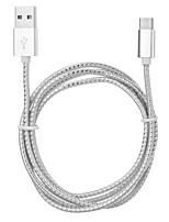 usb 3.1 in alluminio di tipo c per usb 2.0 di ricarica&cavo di sincronizzazione di dati per tablet / telefono cellulare (120 cm)