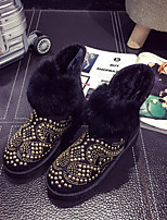 Women's Shoes Flat Heel Round Toe Boots Casual Black / Gray / Beige