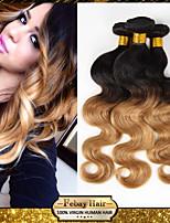 1Pcs/Lot Virgin Human Hair Weaves Body Wave Hair Weft 1B/27 Brazilian Hair Bundles Ombre Brazilian Human Hair Weaves