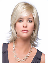 Women Mix Color  lady Curly Short Top Quality Synthetic Hair Wigs
