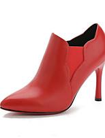 Scarpe Donna - Stivali - Formale / Casual - Stivaletto / A punta / Stivali - A stiletto - Finta pelle - Nero / Rosso