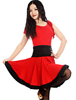 Latin Dance Dresses&Skirts Women's Performance / Training Chinlon / Spandex / Polyester Draped 1 Piece