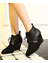 Women's Shoes Wedge Heel Wedges Boots Casual Black / Green