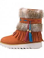 Women's Shoes Platform Comfort Boots Outdoor Black / Brown / Red / Orange