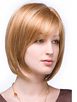 Best Sell Short Straight Hair European Weave Mix Color Hair Wig With Full bang