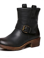 Chaussures Femme - Habillé / Décontracté - Noir / Marron - Semelle Souple - Bottes à la Mode - Bottes - Similicuir