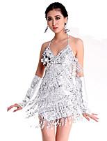 Vestidos ( Oro / Plata , Spandex / Poliéster , Danza Latina ) - Danza Latina - para Mujer