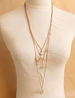Retro Multilayer Swan Eiffel Tower Leaf Crystal Sweater Chain