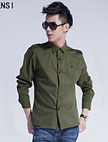 Military men fall male shirt slim type long sleeved shirt shirt cotton British uniform wind tide