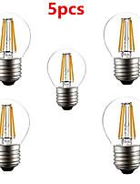 Decorativo Lampadine globo , E26/E27 4 W 4 LED ad alta intesità 400LM LM Bianco caldo / Luce fredda AC 220-240 V