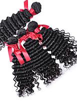Peruvian Hair Loose Curly Wave Virgin Hair Weave 7A Pervian Human Hair 4pcs/lot Remy Virgin Hair Natural Black