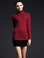 Women's Striped / Solid Red / White / Black Pullover , Sexy / Casual Long Sleeve