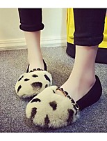 Women's Shoes Suede Flat Heel Ballerina Flats Casual Black / Red / Gray / Animal Print