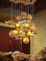 Lampe suspendue - Lanterne - avec Style mini / Ampoule incluse - Bois/Bambou