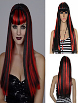 Wonder Sexy Vampire Red and Black Mixed Color Party Wig