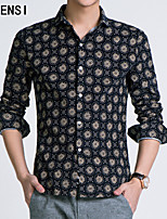 In the spring of 2015 new men's long sleeve pure cotton Blouse Shirt Mens Casual Fashion slim.