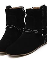 Women's Shoes Fleece Flat Heel Fashion Boots Boots Casual Black / Khaki