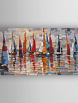 Oil Painting Abstract Buildings  by Knife Painting Hand Painted with Stretched Framed Ready to Hang