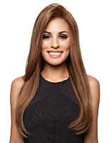 The New Animation Carved Browm Long Straight Hair Wig