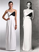 Formeller Abend Kleid Chiffon - Etui-Linie - bodenlang - trägerloser Ausschnitt