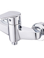 ENZORODI Shower Faucet Tap - Contemporary Style,Single Handle, Brass Chrome,Wall Mount ERF95299C