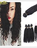 4 Pcs/Lot Brazilian Hair 3 Bundles With Closure Brazilian Kinky Curly With Closure Brazillian Curly Virgin Human Hair
