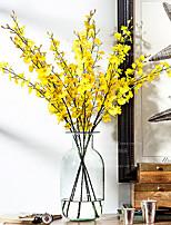 Silk / Plastic Orchids Artificial Flowers 1pcs/set