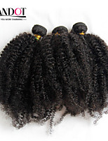 4Pc Lot Brazilian Afro Kinky Curly Virgin Hair 100% Human Hair Weave Bundles Curly Hair Extensions Natural Black