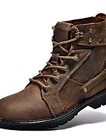 Men's Boots Spring Summer Fall Comfort Nappa Leather Outdoor Office & Career Dress Casual Light Brown
