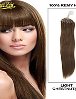 Raw Indian Virgin Remy Hair Micro Ring Hair Extensions Straight Loop Hair Black Brown Blonde 18-28Inch 1G/S 100S