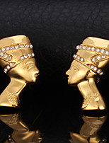 Instyle 18K Chunky Gold Plated Rhinestone Earrings High Quality