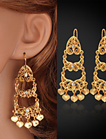 InStyle Luxury Women's Charm Drop Dangle Earrings 18K Gold Plated Austrian Rhinestone Crystal Jewelry High Quality