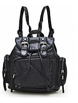 Women PU Weekend Bag Backpack - Gray / Black