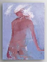 Ölgemälde abstrakten Frau Hand bemalte Leinwand mit gestreckten gerahmten