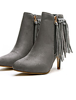 Women's Shoes Suede Stiletto Heel Pointed Toe Boots Casual Black / Yellow / Gray