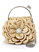 Women's Purse Fashion Silk Flower Style Evening Bag Europe Style Casual Clitch Bag Bride Bag