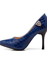 Women's Shoes Leatherette Stiletto Heel Heels Heels Outdoor / Dress / Casual Black / Blue / Brown / White
